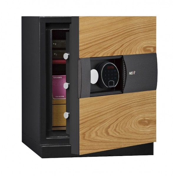 Phoenix Next LS7001FO Luxury Safe Size 1 in Oak with Fingerprint Lock