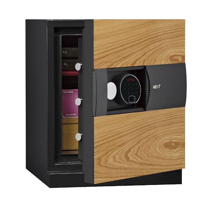 Phoenix Next LS7001FO Luxury Safe Size 1 in Oak with Fingerprint Lock