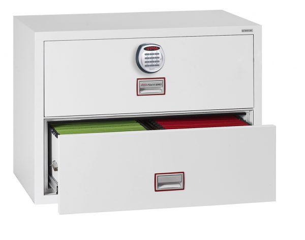Phoenix World Class Lateral Fire File FS2412E 2 Drawer Filing Cabinet with Electronic Lock