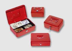 Secure cash boxes