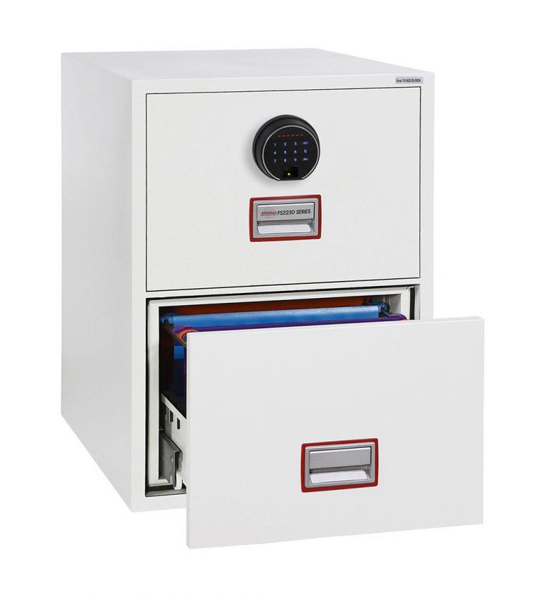 Phoenix World Class Vertical Fire File FS2252F 2 Drawer Filing Cabinet with Fingerprint Lock
