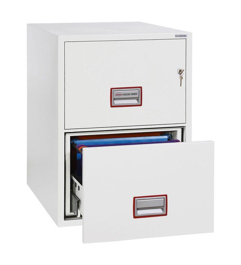 Phoenix World Class Vertical Fire File FS2252K 2 Drawer Filing Cabinet with Key Lock
