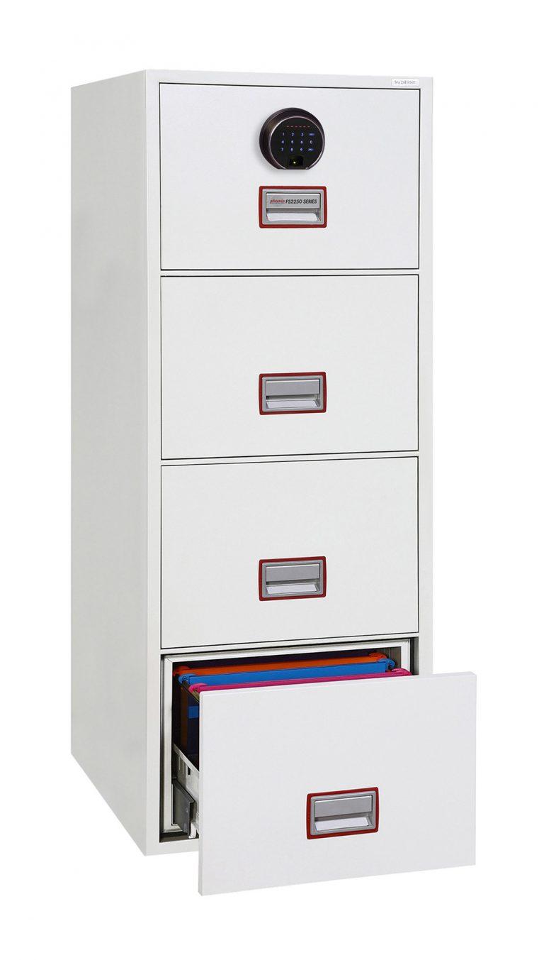 Phoenix World Class Vertical Fire File FS2254F 4 Drawer Filing Cabinet with Fingerprint Lock