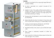 Phoenix World Class Vertical Fire File FS2254K 4 Drawer Filing Cabinet with Key Lock 13