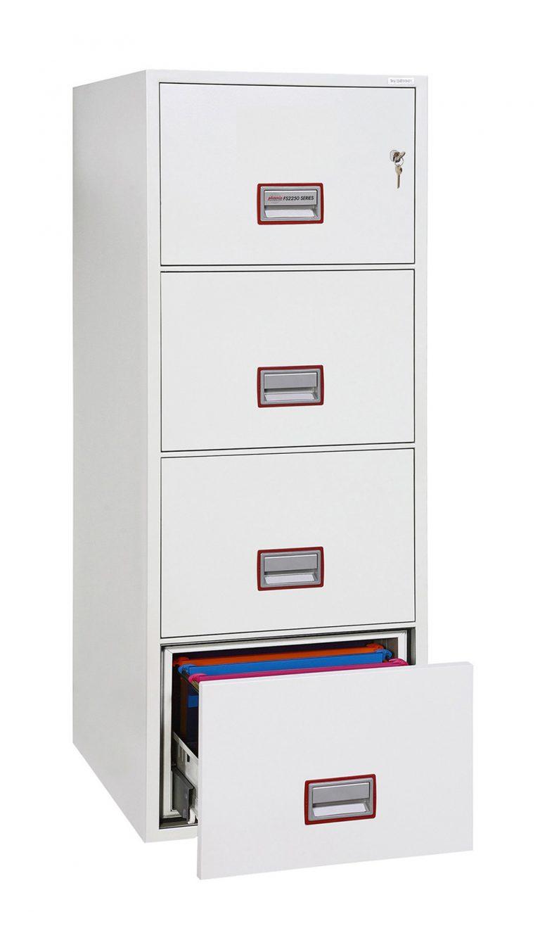 Phoenix World Class Vertical Fire File FS2254K 4 Drawer Filing Cabinet with Key Lock