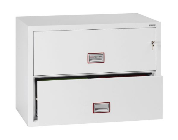 Phoenix World Class Lateral Fire File FS2412K 2 Drawer Filing Cabinet with Key Lock