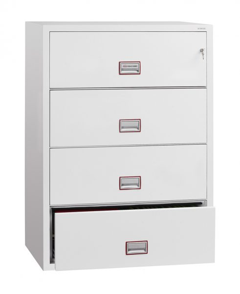 Phoenix World Class Lateral Fire File FS2414K 4 Drawer Filing Cabinet with Key Lock