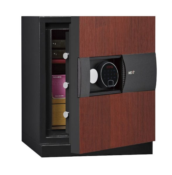 Phoenix Next LS7001FC Luxury Safe Size 1 in Cherry with Fingerprint Lock