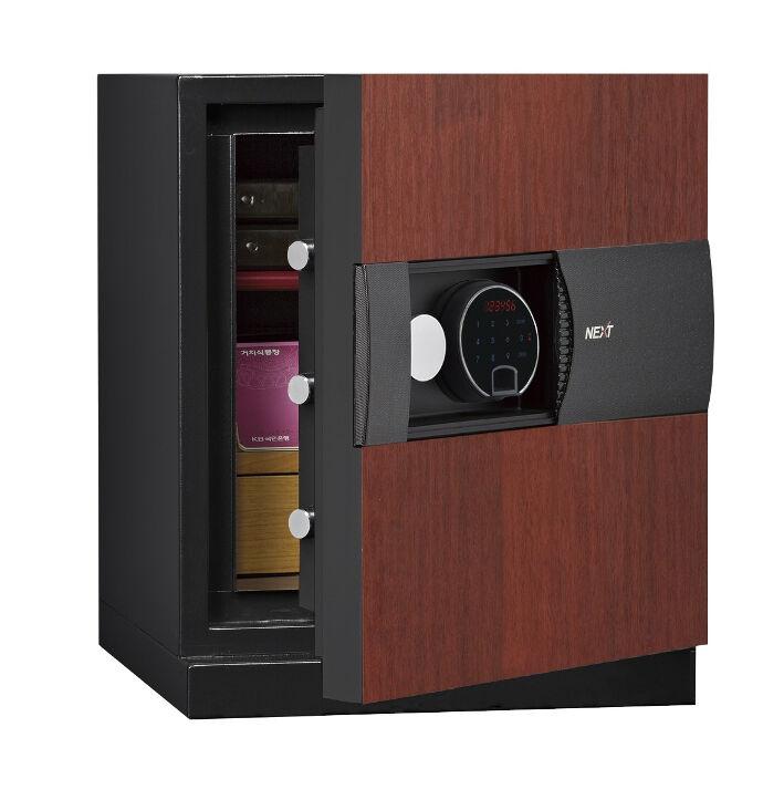 Phoenix Next LS7001FC Luxury Safe Size 1 in Cherry with Fingerprint Lock