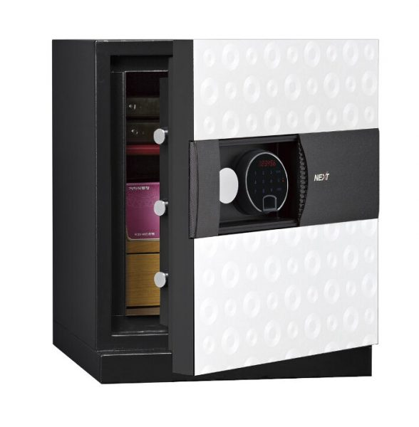 Phoenix Next LS7001FW Luxury Safe Size 1 in White with Fingerprint Lock