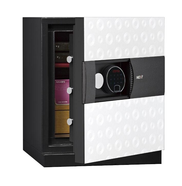 Phoenix Next LS7001FW Luxury Safe Size 1 in White with Fingerprint Lock