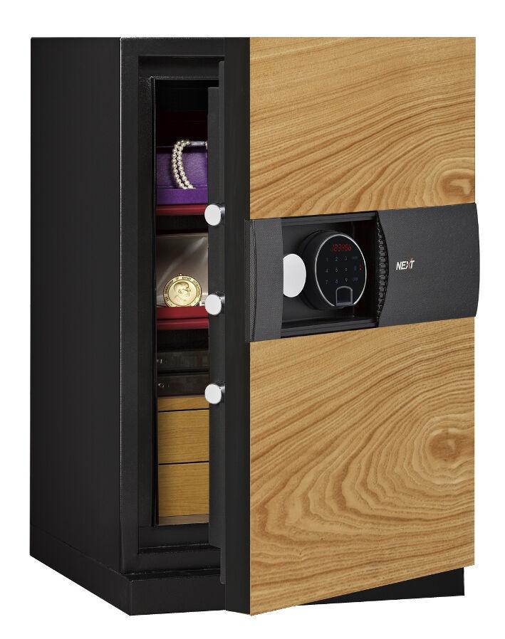 Phoenix Next LS7002FO Luxury Safe Size 2 in Oak with Fingerprint Lock