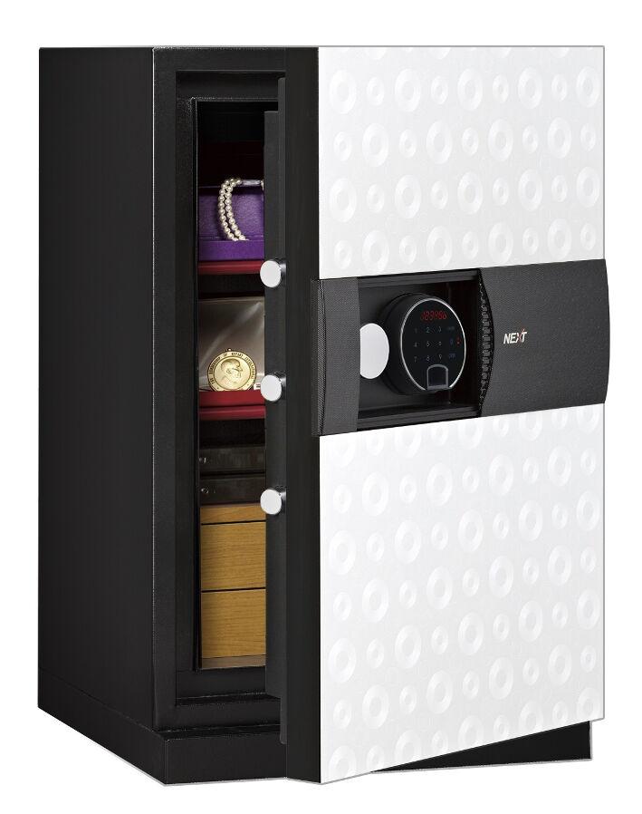 Phoenix Next LS7002FW Luxury Safe Size 2 in White with Fingerprint Lock
