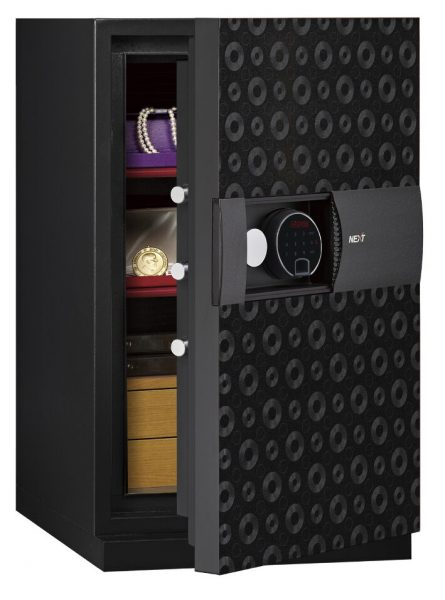 Phoenix Next LS7003FB Luxury Safe Size 3 in Black with Fingerprint Lock