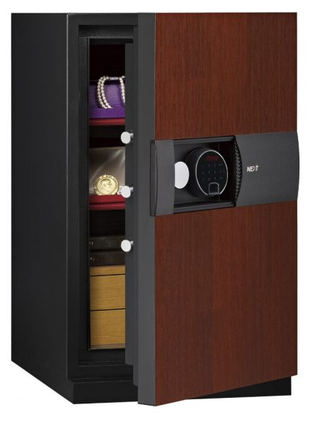 Phoenix Next LS7003FC Luxury Safe Size 3 in Cherry with Fingerprint Lock