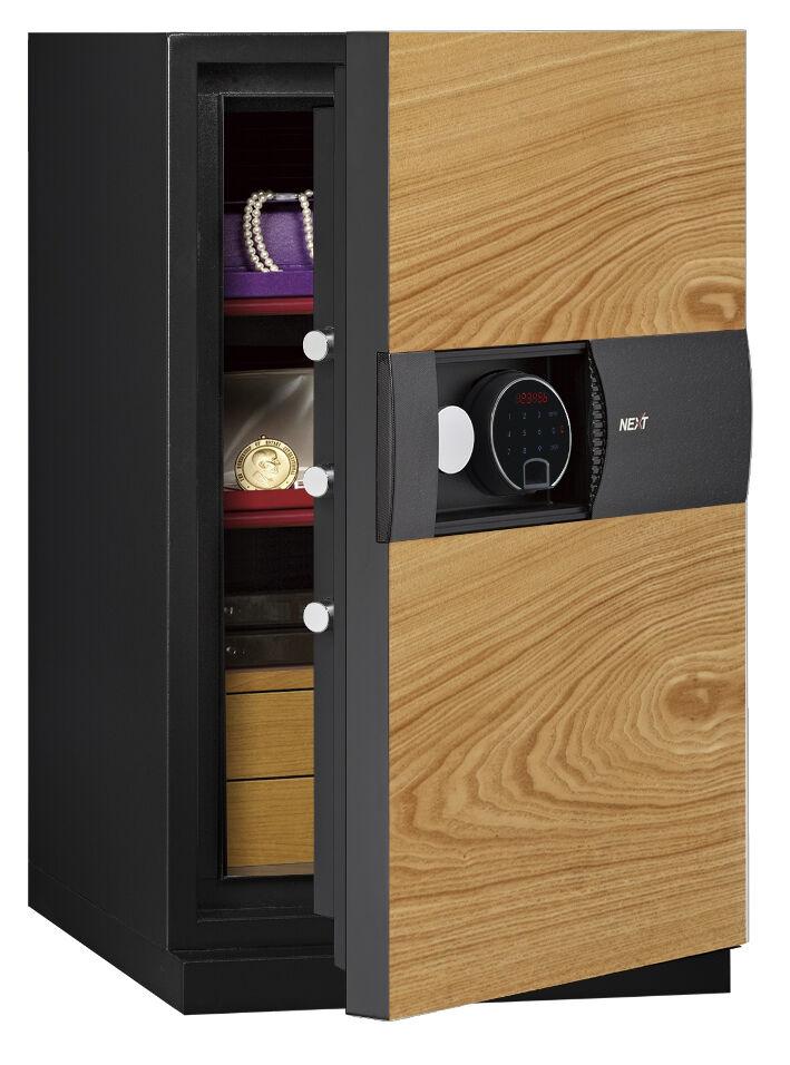 Phoenix Next LS7003FO Luxury Safe Size 3 in Oak with Fingerprint Lock