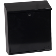 Phoenix Casa Top Loading Letter Box MB0111KB in Black with Key Lock 0