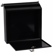 Phoenix Casa Top Loading Letter Box MB0111KB in Black with Key Lock 2