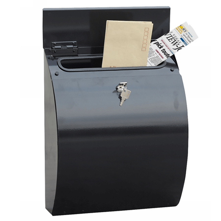 Phoenix Curvo Top Loading Letter Box MB0112KB in Black with Key Lock