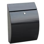 Phoenix Curvo Top Loading Letter Box MB0112KB in Black with Key Lock 0