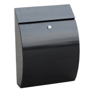 Phoenix Curvo Top Loading Letter Box MB0112KB in Black with Key Lock 0
