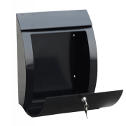 Phoenix Curvo Top Loading Letter Box MB0112KB in Black with Key Lock 1