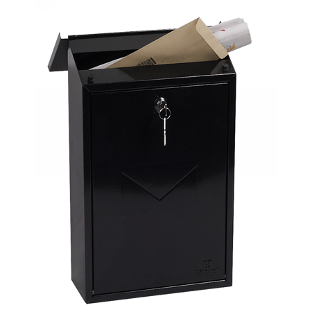 Phoenix Villa Top Loading Letter Box MB0114KB in Black with Key Lock