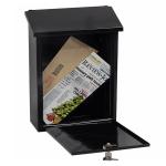 Phoenix Villa Top Loading Letter Box MB0114KB in Black with Key Lock 0