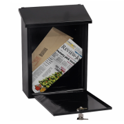 Phoenix Villa Top Loading Letter Box MB0114KB in Black with Key Lock 0