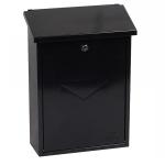 Phoenix Villa Top Loading Letter Box MB0114KB in Black with Key Lock 1