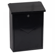 Phoenix Villa Top Loading Letter Box MB0114KB in Black with Key Lock 1