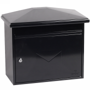Phoenix Libro Front Loading Letter Box MB0115KB in Black with Key Lock 0