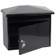 Phoenix Libro Front Loading Letter Box MB0115KB in Black with Key Lock 1