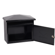 Phoenix Libro Front Loading Letter Box MB0115KB in Black with Key Lock 2