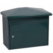 Phoenix Libro Front Loading Letter box MB0115KG in Green with Key Lock 2