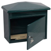 Phoenix Libro Front Loading Letter box MB0115KG in Green with Key Lock 3