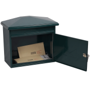Phoenix Libro Front Loading Letter box MB0115KG in Green with Key Lock 1