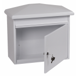 Phoenix Libro Front Loading Letter Box MB0115KW in White with Key Lock 1