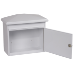 Phoenix Libro Front Loading Letter Box MB0115KW in White with Key Lock 2