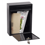 Phoenix Letra Front Loading Letter Box MB0116KB in Black with Key Lock 0