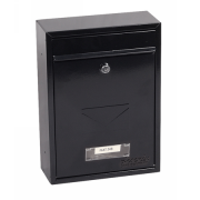 Phoenix Letra Front Loading Letter Box MB0116KB in Black with Key Lock 1