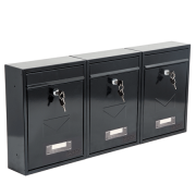 Phoenix Letra Front Loading Letter Box MB0116KB in Black with Key Lock 3