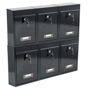 Phoenix Letra Front Loading Letter Box MB0116KB in Black with Key Lock 4