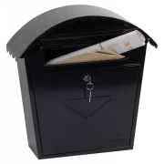 Phoenix Clasico Front Loading Letter Box MB0117KB in Black with Key Lock 0