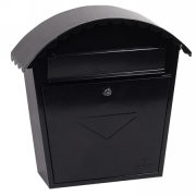 Phoenix Clasico Front Loading Letter Box MB0117KB in Black with Key Lock 1