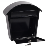 Phoenix Clasico Front Loading Letter Box MB0117KB in Black with Key Lock 2