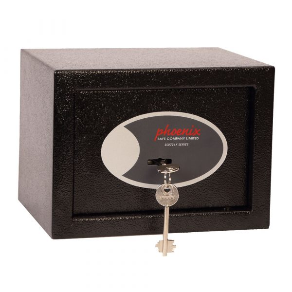 Phoenix Compact Home Office SS0721K Black Security Safe with Key Lock