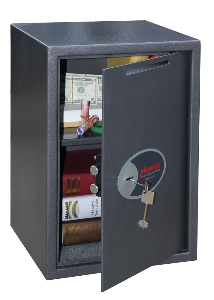 Phoenix Vela Deposit Home & Office SS0804KD Size 4 Security Safe with Key Lock