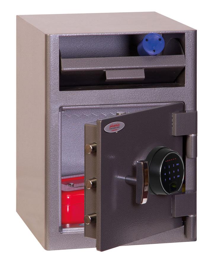 Phoenix Cash Deposit SS0996FD Size 1 Security Safe with Fingerprint Lock