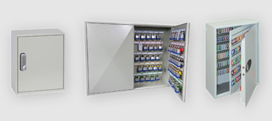 Secure key cabinet safes